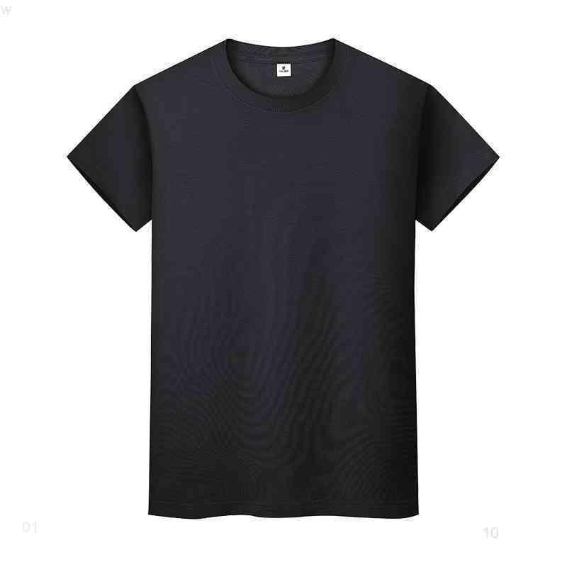 Yeni Yuvarlak Boyun Katı Renk T-Shirt Yaz Pamuk Dip Gömlek Kısa Kollu Erkek ve Bayan Yarım Kollu JPHEII