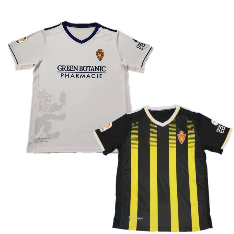 2021/22 Real Zaragoza Soccer Jersey 2022 # 7 Miguel Shinji Kagawa Pombo Guti Uniforge мужская # 15 Alejandro Vazquez Javi Ros футбольная футболка