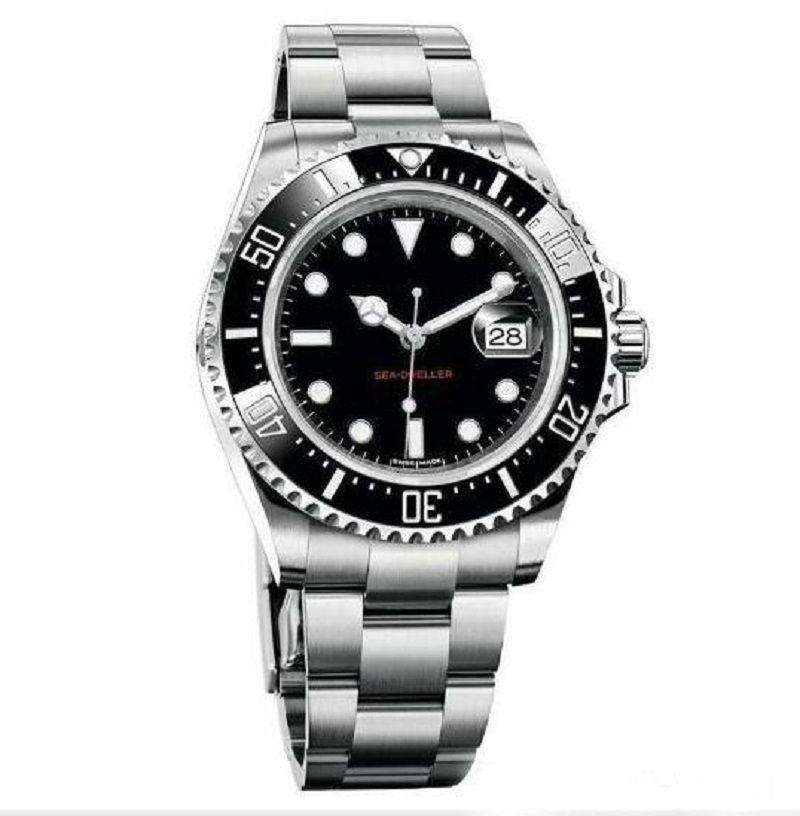 Мужские часы керамические BEZEL 43 мм красный 18CT Золотой морской обитатель из нержавеющей стали 126603 с скользной замок сплошной застежкой автоматические мужские часы