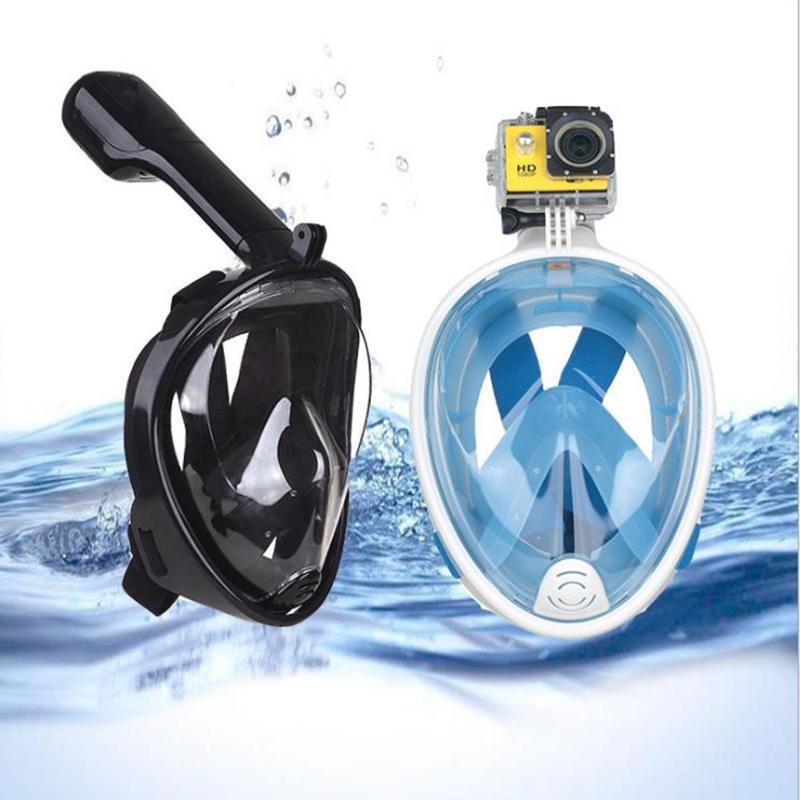 Diving Masks Adult Underwater Scuba Snorkeling Anti Fog Mask Set Full Face Waterproof Respiratory Swimming Equipment