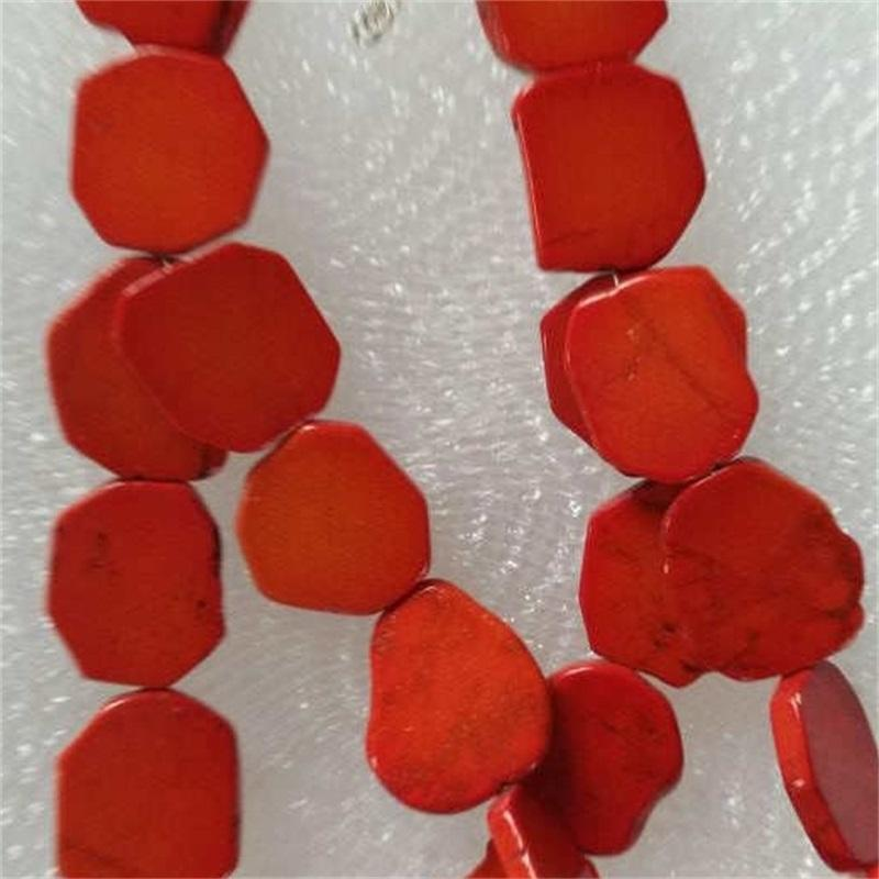 Woman Gift Irregular Orange Turquoise Slice Choker Necklace Exaggerate Gold Bead 845 Q2