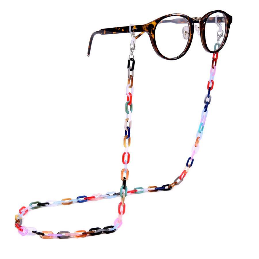 Bunte Acryl-Maskenkette, Rutsche und Anti-Verlust, modisches presbyropisches Brillen-hängendes Seil A08R