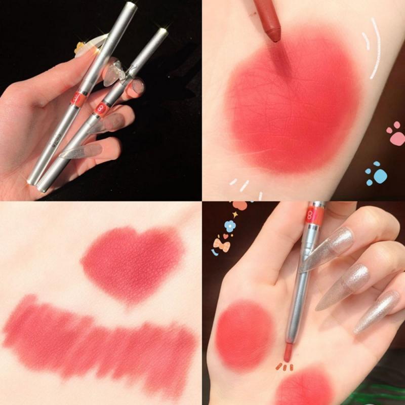 Crayons à lèvres Toux-crayons auto-rotatifs Doublure à crayons imperméables à l'étanche NON-Marking Primer pour le rouge à lèvres pour débutant Facile à dessiner durable TSLM1