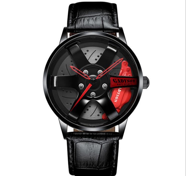 Cinturino in pelle Design unico orologio al quarzo orologio da 40 mm Diametro Diametro Style Mens Orologi da uomo Studente Studente Locomotiva Cool Orologio da polso