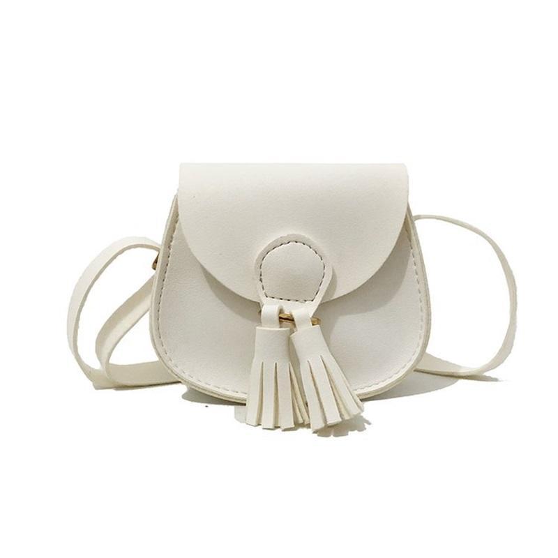 7 컬러 소녀 인 Tassels PU 가방 2018 새로운 어린이 패션 싱글 어깨 aslant 동전 지갑 가방 지갑 358 U2