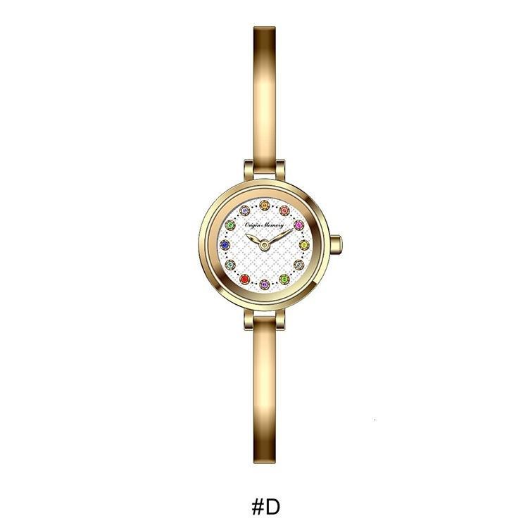 Montre Fashion Women's Watch Diamond Time regalo para la novia Qixi Quartz Girl Watch