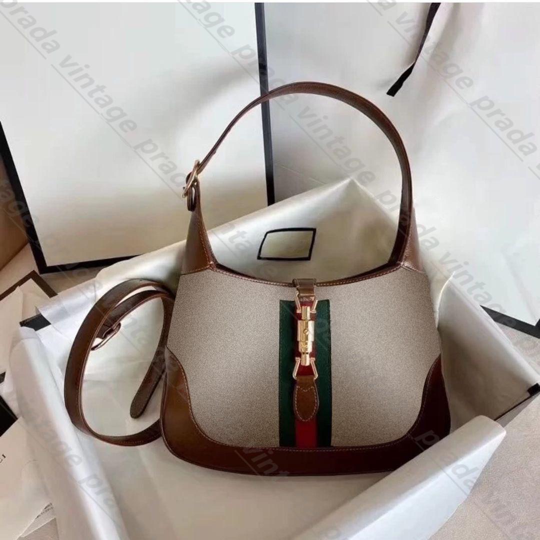 Top Quality Real Leather Women Cleo G Jackie 1961 Spazzolato Tote Borsa in nylon Designer di lusso uomo Borsa a tracolla Hobo Portafoglio Borse a tracolla Borse Borse Borse Borse