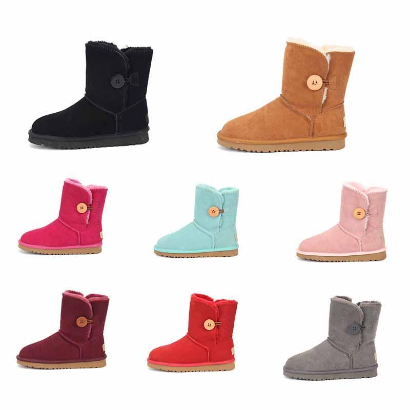 Moda Mujeres Ug Boots Snow Invierno Boot Classic Mini Tobillo Corta Ladies Girls Botines Khaki Triple Negro Castaño Azul Beige Bowtie Sports Shoes