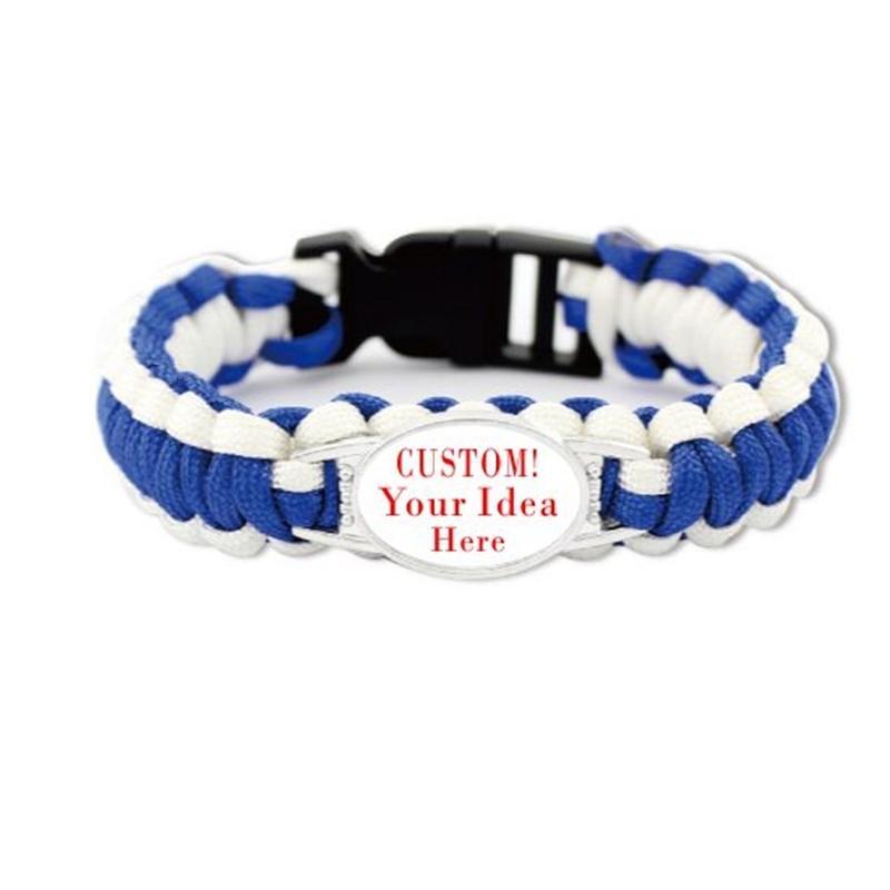 Custom Your Idee Paracord Armbänder für das Überleben Camping Essential Supplies Outdoor Sports Frauen Männer Armband