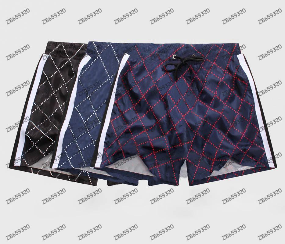 2021 Summer Moda Hombres Pantalones cortos Secado rápido Traje de baño Tablero de impresión Pantalones de playa Pantalones para hombre Nadar Tamaño corto M-3XL
