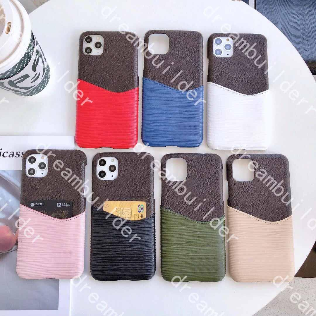Moda iPhone 13 Pro Max Casi 12mini 11 13Pro 11Promax XR XSMax Caso PU Shell Shell Samsung S20 S20P S20U NOTA 10 20 10P 20U Porta carte