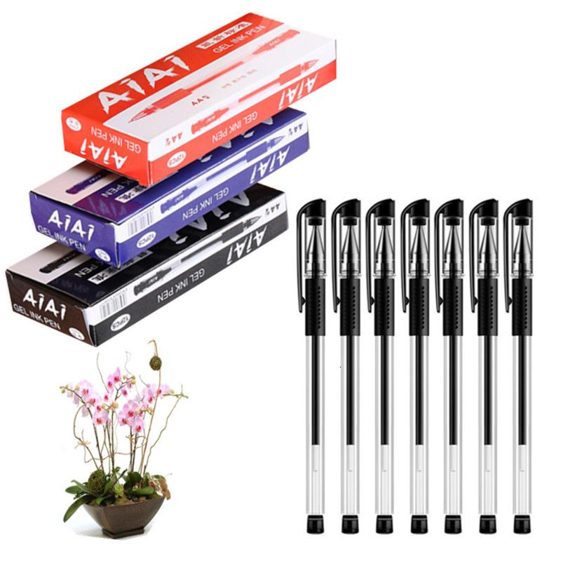 0.5mm Boxed European Bullet Standard Neutral Business Office Student Stationery Water Test Signature Writing Pen