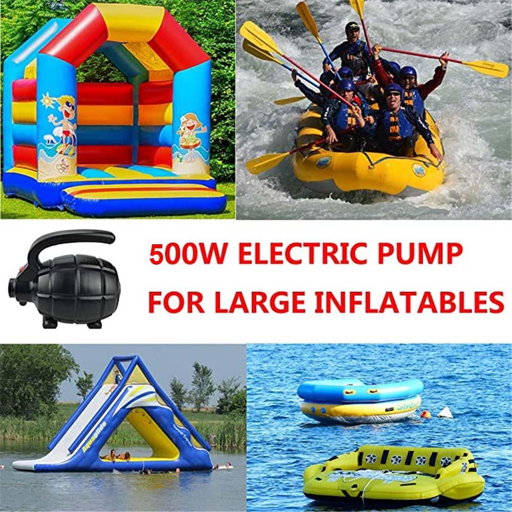110V/220V 500W Electric Pump for Inflatables Beach Air Mattress Pumps Bed Pool Toy Raft Boat Quick Black