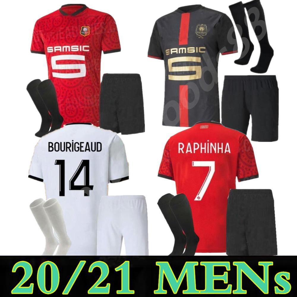 2021 Maillot Rennes Soccer Trackss 120-летие Stade Rennais Camavinga Bourigeaud Niang Da Silva Kids Kit Футбольные рубашки
