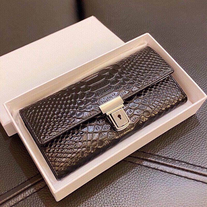 Wallet Alligator Pattern Women Clutch Bag Purse Crocodile Genuine Leather Long Wallets Fashion letter Hasp Purses