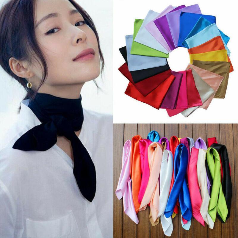 Au Donne Soft Silk Scover Sciarpa Sciarpa Bandana con scollo a testa con scollo involucro Sciarpe Regali