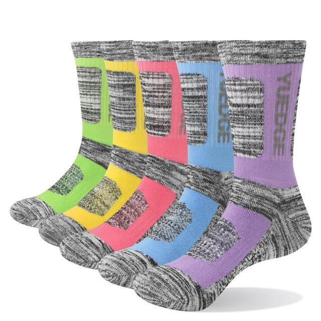 Yuedge Бренд Женская подушка комбинированные хлопчатобумажные погружения стекальные носки женщин (5 пар / кусок)