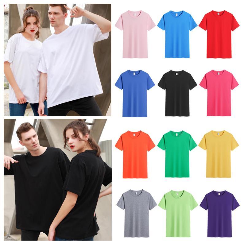 180g Top Quality Custom Logo Womens Korean T Shirt Woman Fashion Brand New Color Box Crew Neck T-shirt Summer Men Women Tee Hip Hop Casual T-shirts