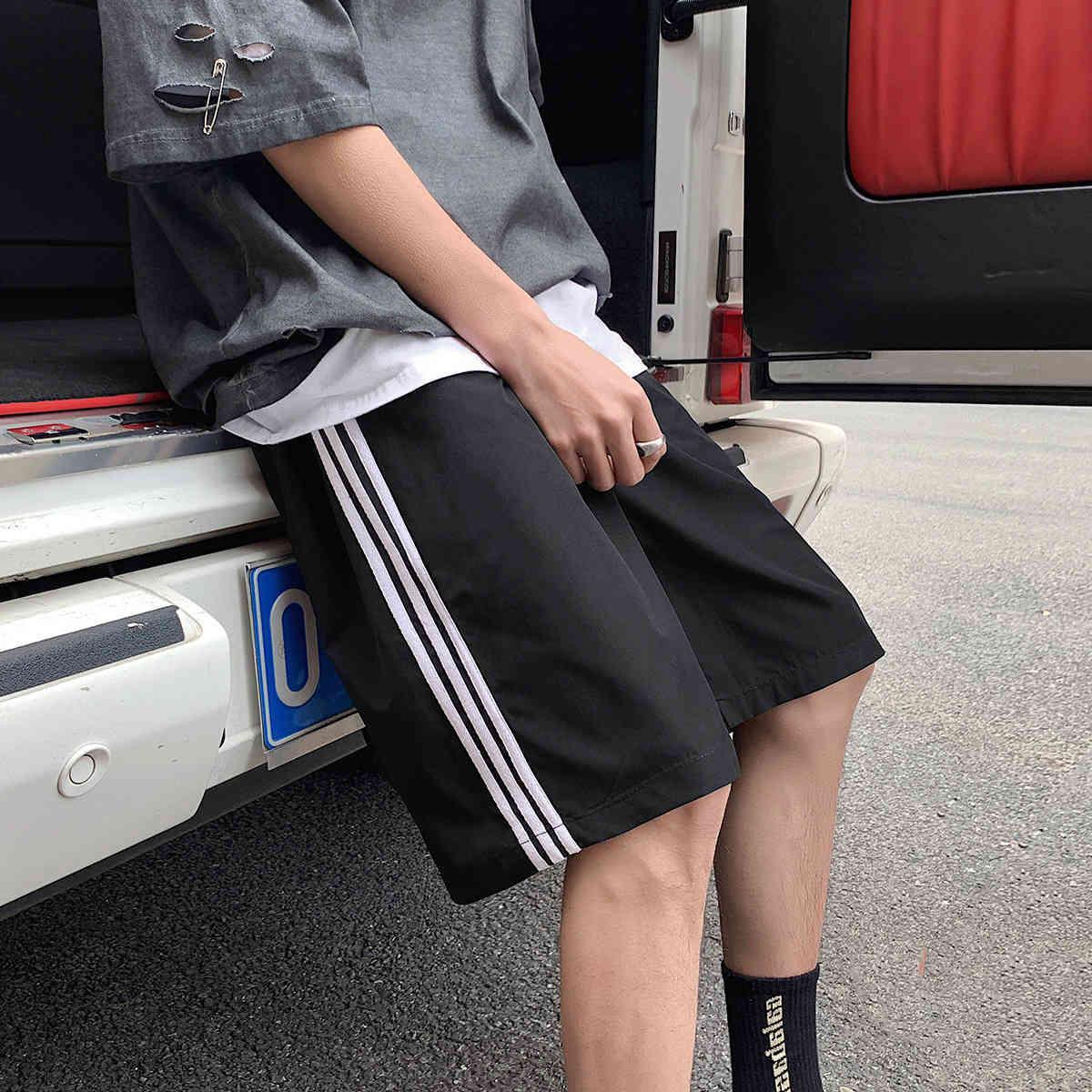 Perth pantalón de verano verano pareja rayada pantalones playa coreano recto suelto shorts casual deportes moda