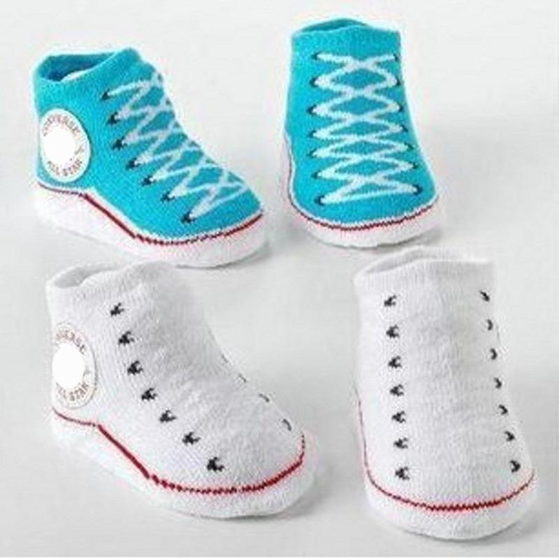 1 par de calcetines de algodón niños con calcetines de dibujos animados de dibujos animados solos de caucho antideslizantes Recién nacidos Unisex antideslizantes Botas para 0-12m Bebé 868 x2