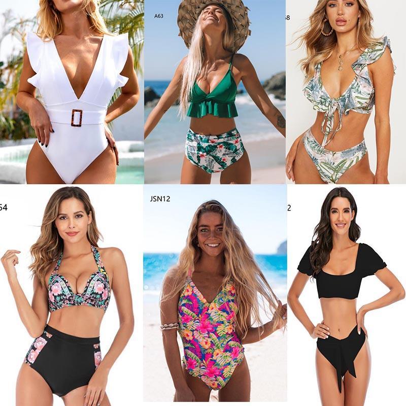 2021 Traje de baño de las mujeres Sexy Dos piezas Triángulo Traje de baño Dama acolchado Sujetador Bikini