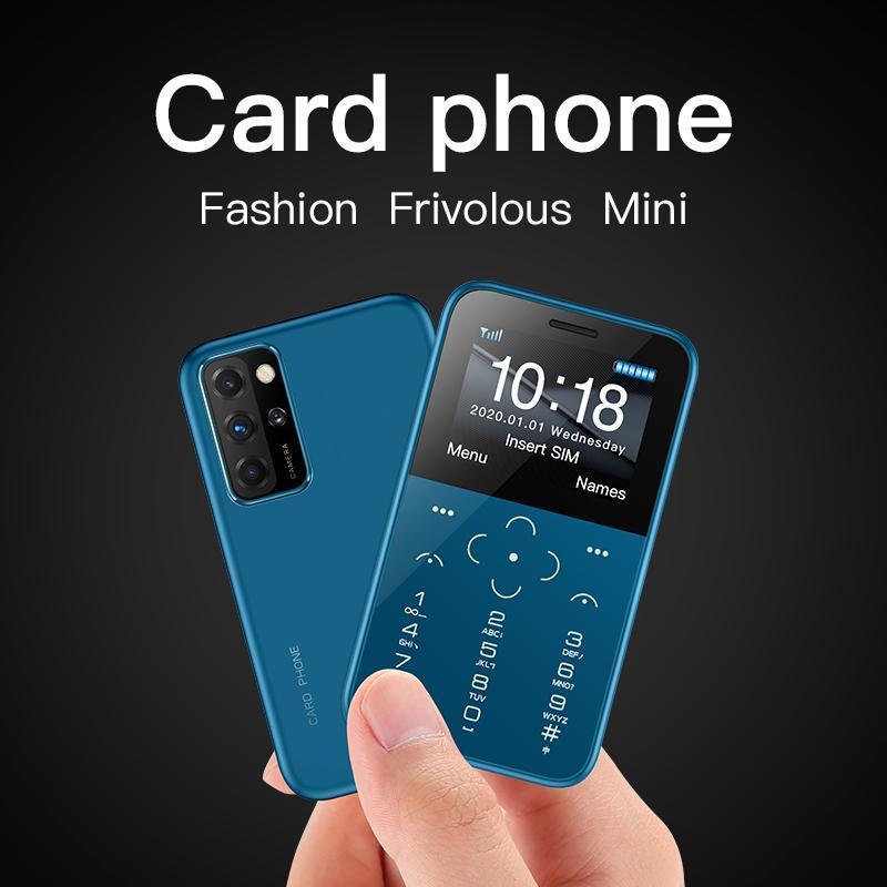 Mini Card Phone 2G GSM 1.54 '' MTK6261M Сотовый телефон Ультратонкие Моды Дети Небольшие Сиз Телефоны с факелом MP3-камеры MP4 Player