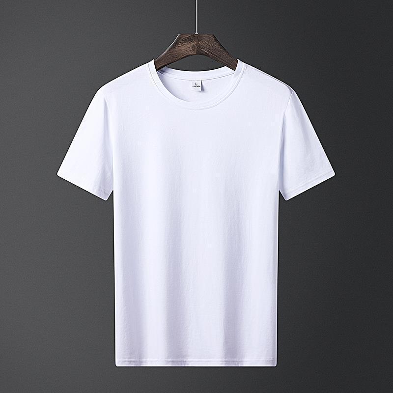 Männer T-Shirt Freizeit Mode Trend Feste Farbe 2021 Sommer Dünne Rundhals-Kurzarm-Oberteil