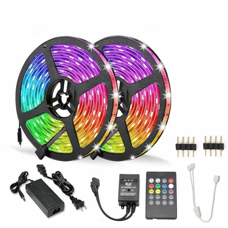 12V RGB LED 스트립 라이트 음악 사운드 활성화 원격 전원 키트 스트립