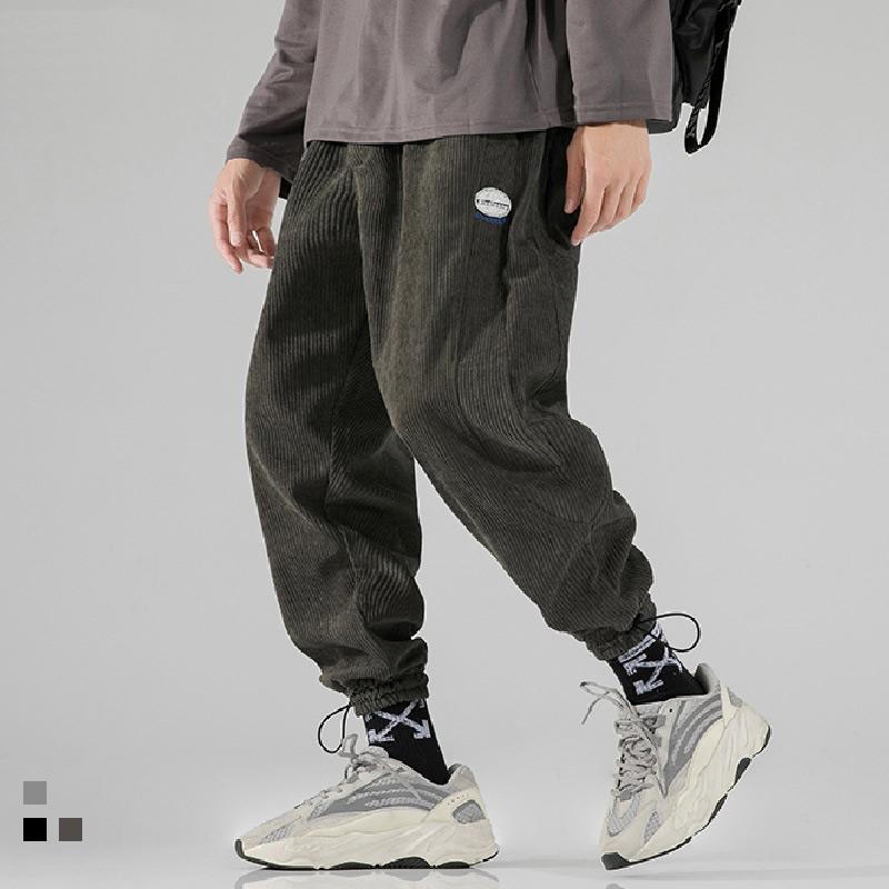 코듀로이 바지 힙합 캐주얼 느슨한 streetwear 조깅 남자 바지 일본식 남자 의류 harem