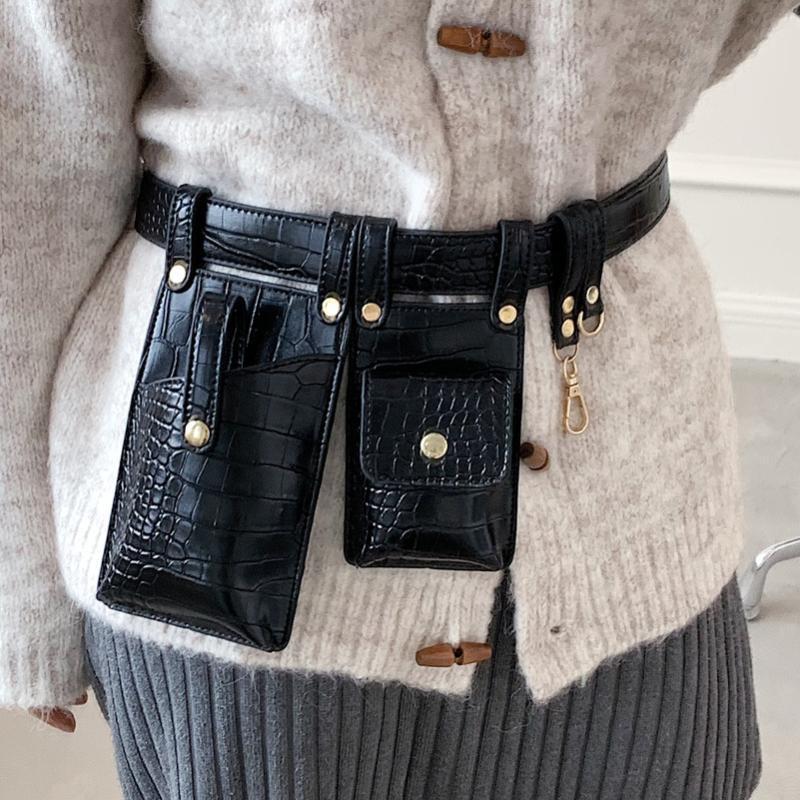 Taille Taschen Frauen Fanny Pack Girl Leder Gürteltasche Unregelmäßige Form Dame Vintage Casual Brust Marke Schulter