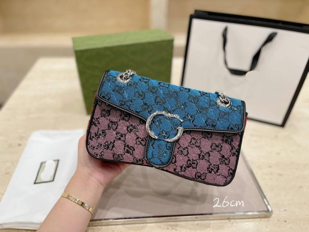 Designer Crossbody Tote Borsa a tracolla Messenger Handbag Portafoglio Sella borsa Lvlouis Zaino con logo GUUCCI A51