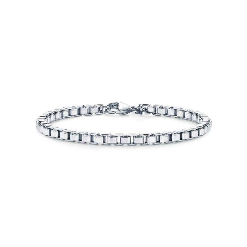 Runda High Quality Venetian Link Bracelet In Metal Stainless Steel For Men Women Classic Jewelry Link, Chain