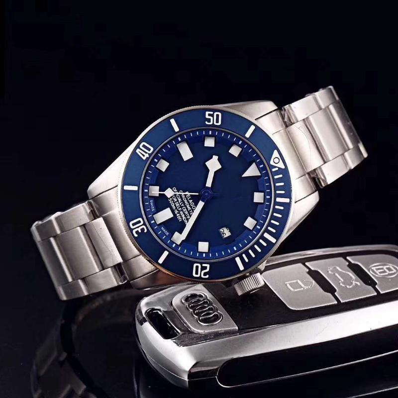 Foreign Trade Men's High Quality Fine Steel Machinery 3-pin Mechanical Watch Manufacturer Wholesale Wristwatches