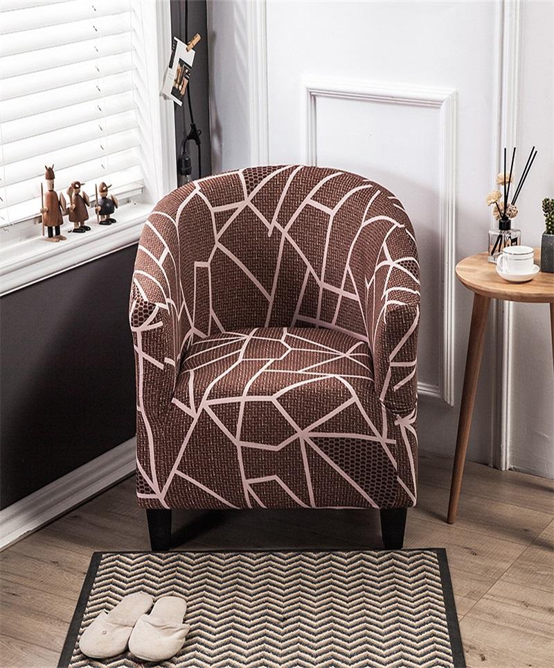 Спандекс эластичная натяжная ванна для ванны для ванны Крышки напечатанные развлекательные ванны для ванны кресло для кресло-сиденья крышка сиденья рука диван Protecte Protertable SlipCover1 736 R2