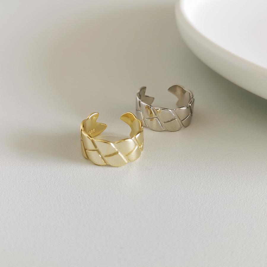 JZ88 anillo de diamante de plata pura para la indiferencia de las mujeres SAA2