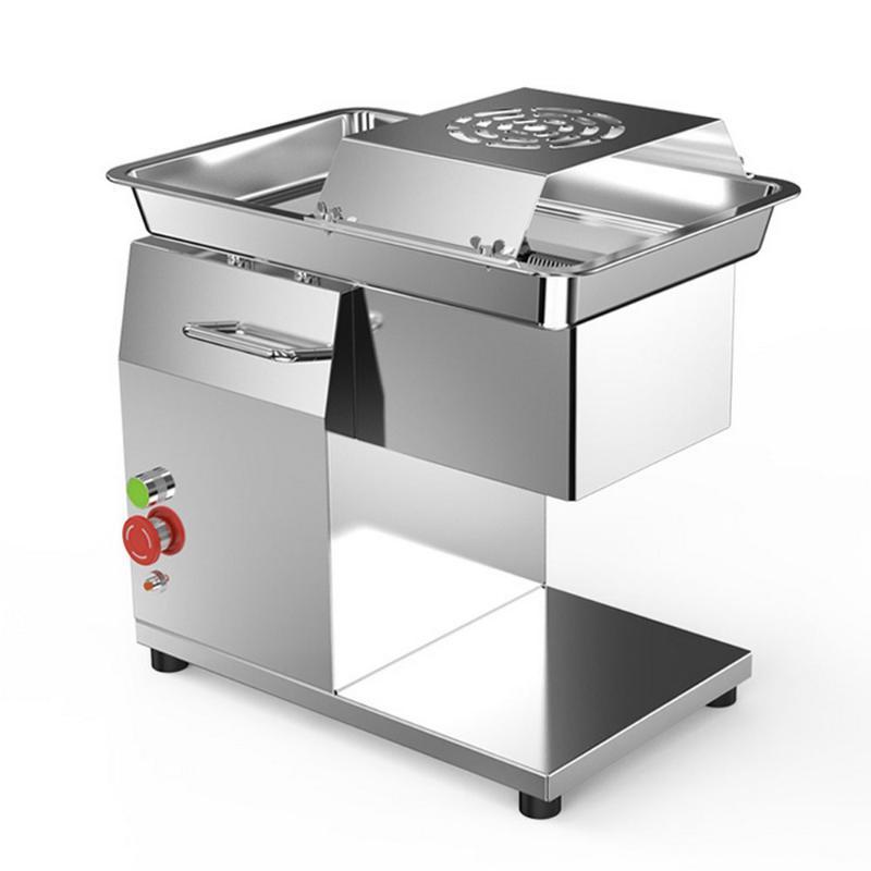 Fleischschleifer 220V elektrischer Slicer-Maschinen-Edelstahl-Schneidegewürfelte 3,5-mm-Dicke Gemüsegericht