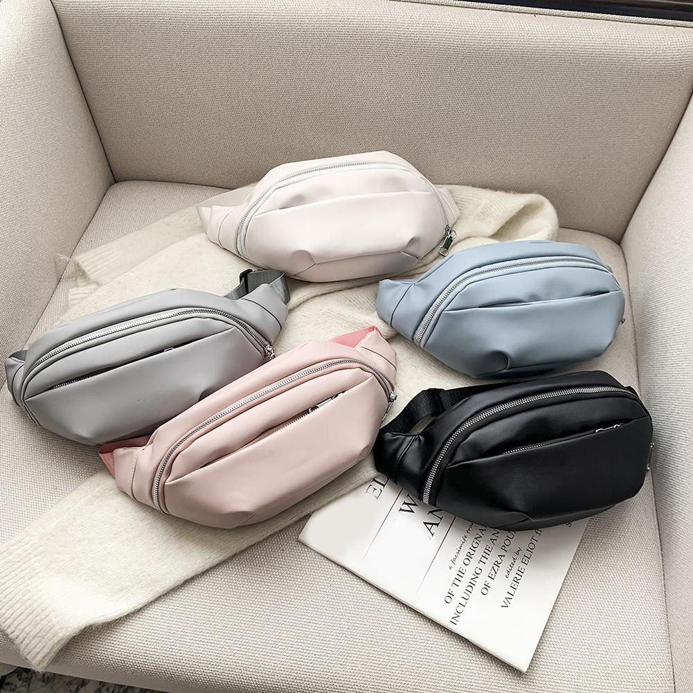 Geldpackung Brusttasche Taille Reißverschluss Messenger Pack Klassische Weibliche Weibliche Massive PU-Leder Outdoor Brusttasche Klassische Vintage Tasche
