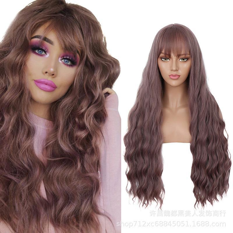 Fashion Water Ripple parrucca lunga parrucca in fibra chimica fibra set Prezzo