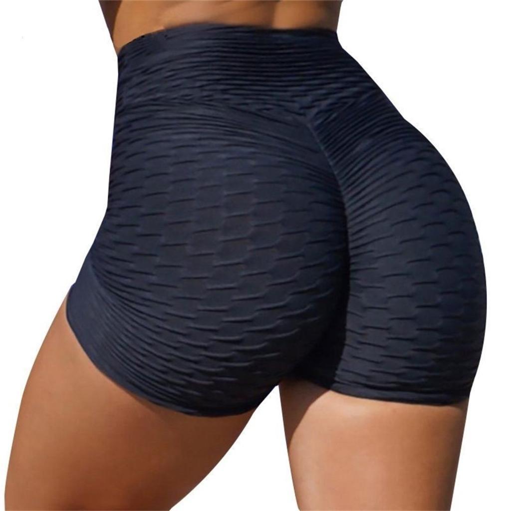 여성 여름 얇은 스포츠 높은 허리 반바지 자카드 엉덩이 슬리밍 통기성 요가 패션 숙 녀 체육관 실행 바지 G4T61Y0