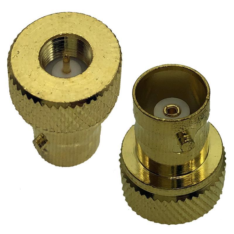 2 paquetes GoldPlated RF Conectadores de adaptador de coaxial coaxial Conectores Male a BNC Cobaxs hembra Conector Jack Se puede usar para la radio de dos vías conversión con conversión de antena Walkie-Talkie