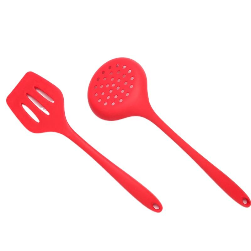 2021 Food-grade silicone non-stick cookware shovel fish fence healthy and practical two-piece cooking utensils set Baking Pastry Tools