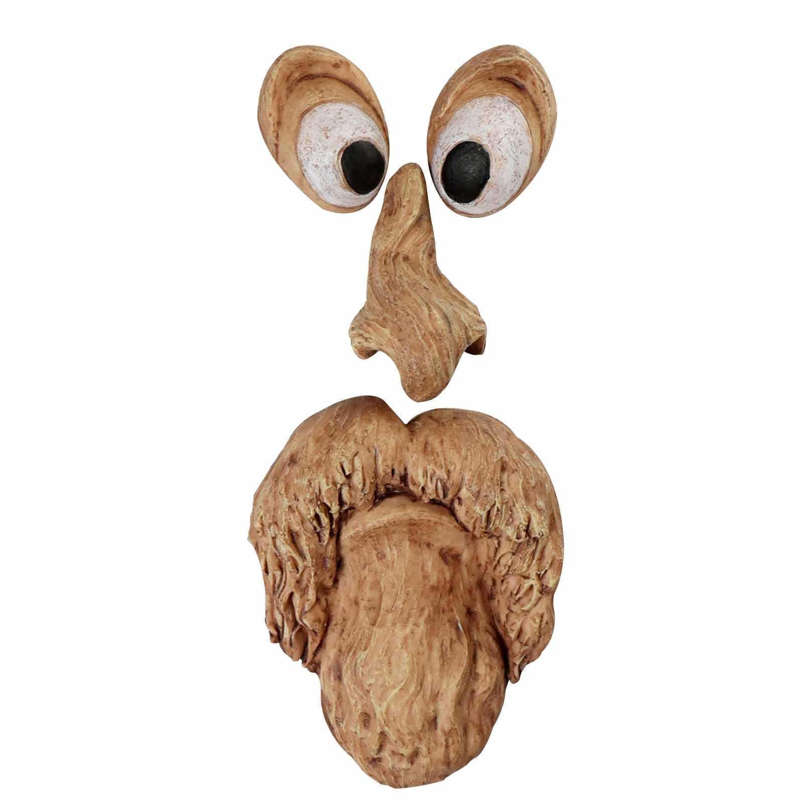 Открытый Пасхальные Украшения Смола Дерево Монстр Драда Лицевые Куски для Лесной Вещи Смешное дерево Кору Призрак Бог реквизит маска