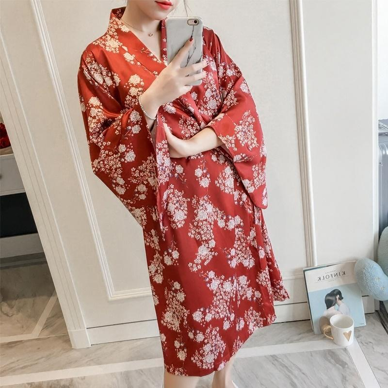 Traditional Japanese Kimonos Yukata Kimono Cardigan Female Pajamas Costume Geisha Dress Haori Obi FF2211 Ethnic Clothing