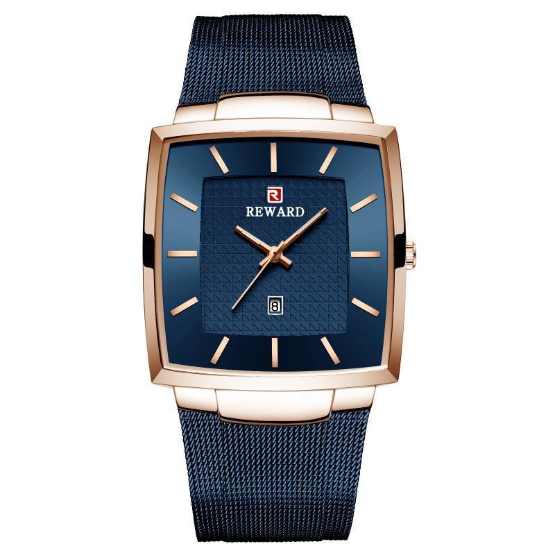 Reward62009 Men's Watch Waterproof Quartz Mesh Belt Business Leisure Calendar Foreign Trade Wristwatches