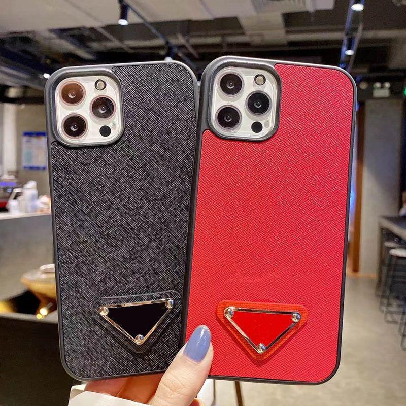 أزياء مصمم الحالات الهاتف لآيفون 12 12pro 11 11pro ماكس xs xr xsmax 7 8 زائد أعلى جودة الصليب نمط الجلود TPU غطاء الهاتف المحمول الفاخرة