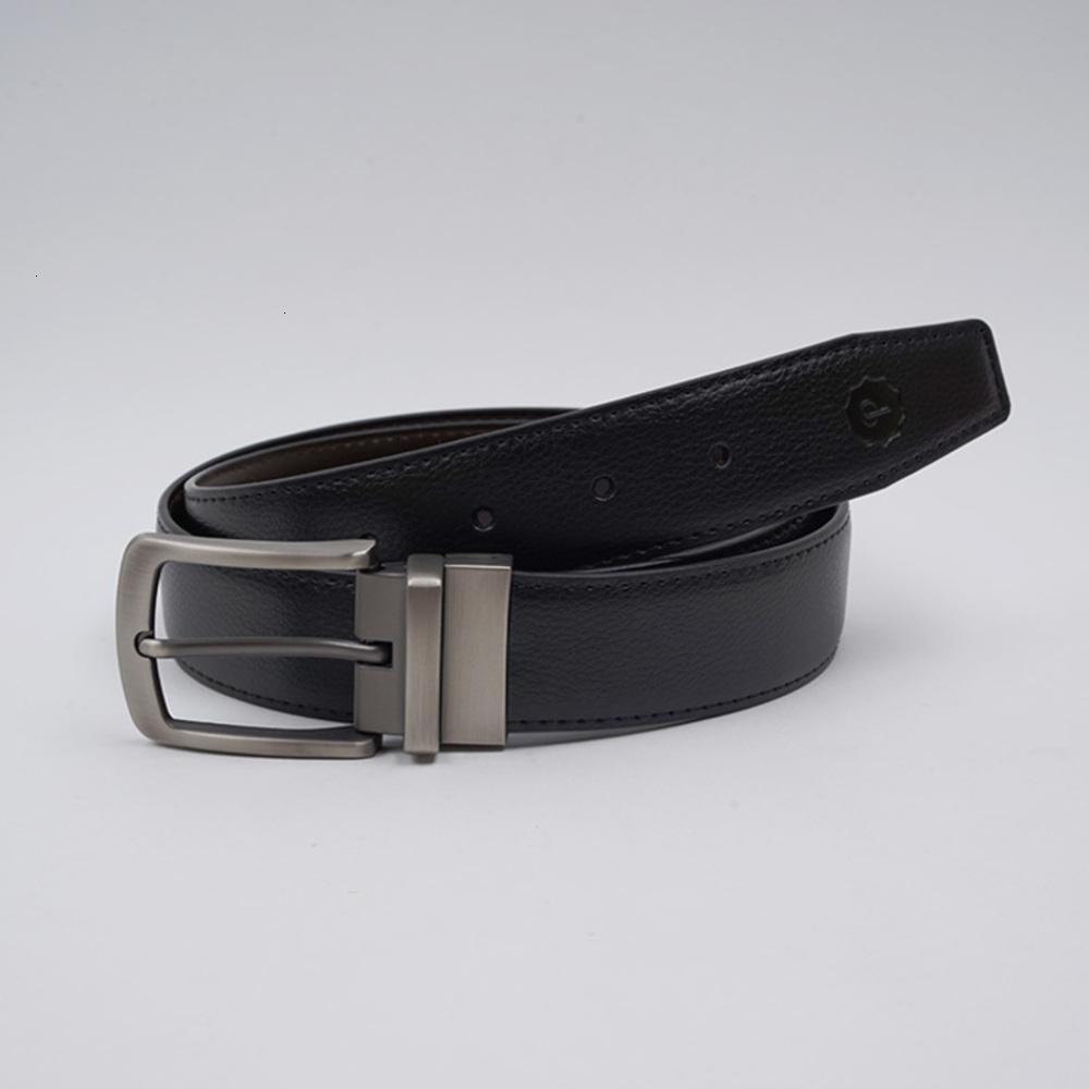 Аксессуары для моды CHAO Бренд мужская кожаная двойная сторона Использовать брюк бежевой пряж универсальный бизнес отдых молодежный пояс