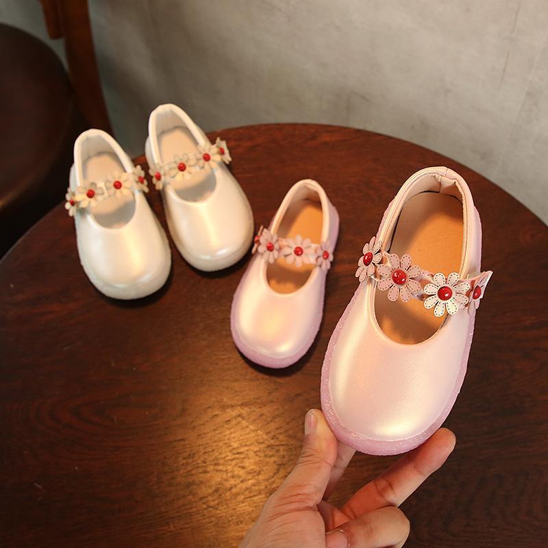 Sneakers 2021 Autumn Girls Shoes Korea Style Fashion Princess Girl Children Floral