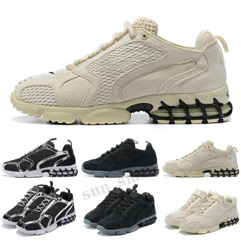 stussy x Zoom Spiridon CAGE 2 uomini donne scarpe da corsa metallizzate argento varsity royal fashion designer mens da donna formatori scarpe da ginnastica sportive all'aperto