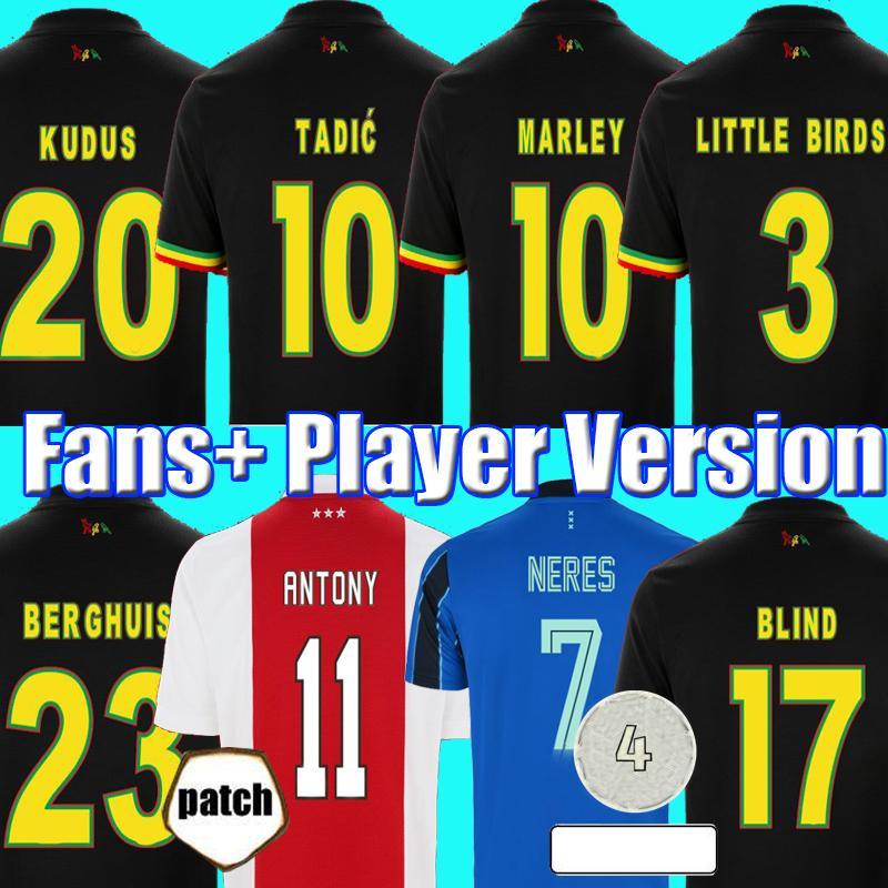 2021 TADIC BERGHUIS GRAVENBERCH Camisa de futebol Amsterdam KUDUS BLIND PROMES HALLER NERES CRUYFF KLAASSEN 2022 AJAX masculino crianças kit camisa de futebol camiseta
