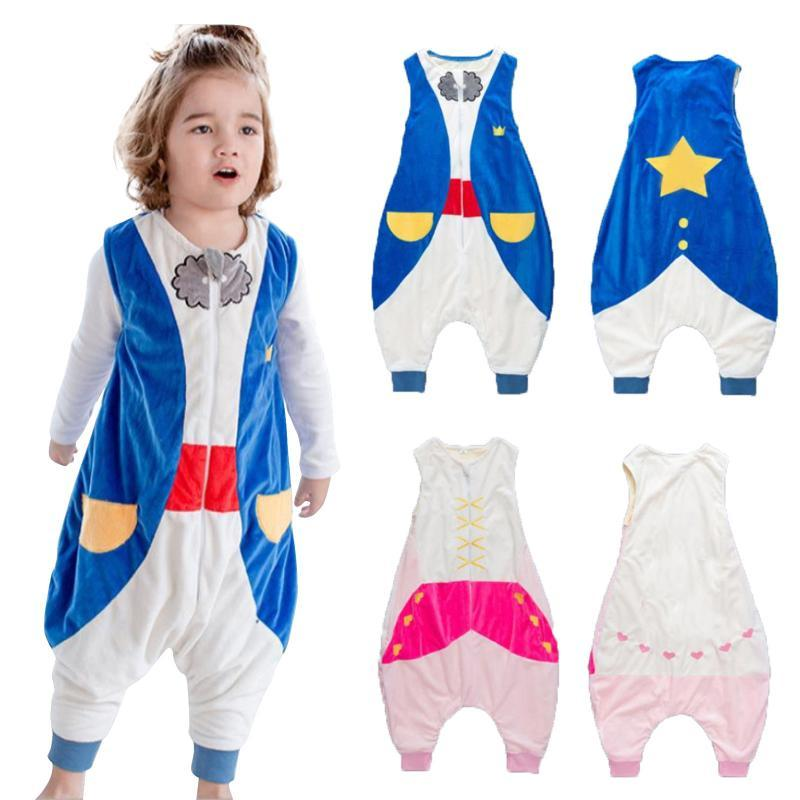 Jumpsuits Toddler Kids Baby Boys Girls Cartoon Jumpsuit Fleece Wearable Blanket Sleep Bag Girl Summer Clothes 2021 Cosplay Bodysuit